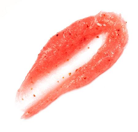 body scrub: Pink body scrub isolated on white background Stock Photo