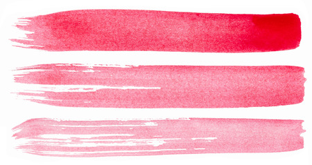 Strokes of pink paint isolated on white background