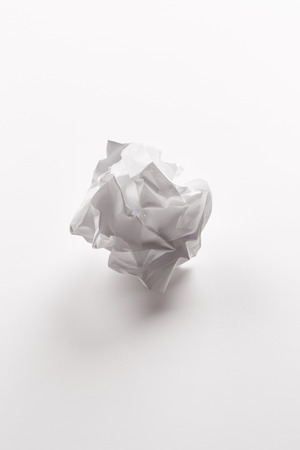 crumpled sheet: Crumpled sheet of paper isolated on white background