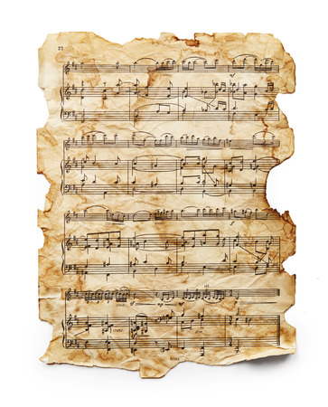 Vintage music sheet isolated on white background Фото со стока - 40772183