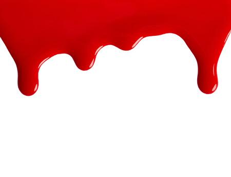 Rode nagellak geïsoleerd op witte achtergrond Stockfoto