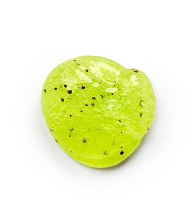 body scrub: Green body scrub isolated on white background