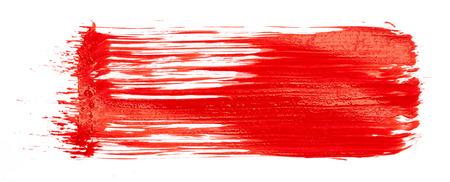peinture rouge: Peinture rouge isol� sur fond blanc Banque d'images
