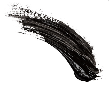 Black paint isolated on white background
