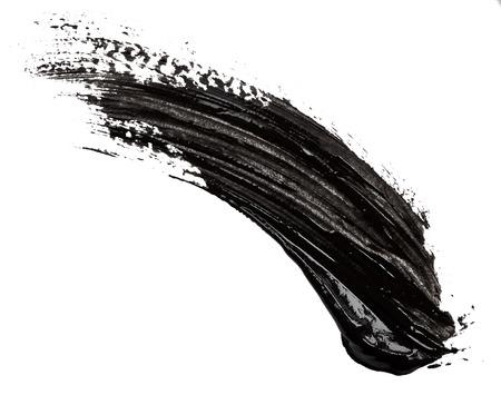 Zwarte verf op een witte achtergrond