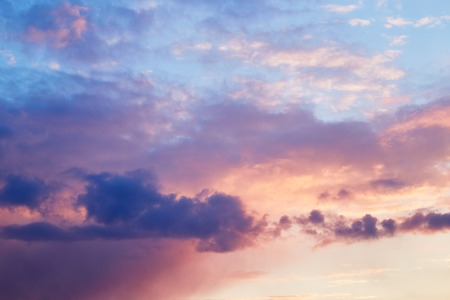Beautiful evening sky background Stock Photo