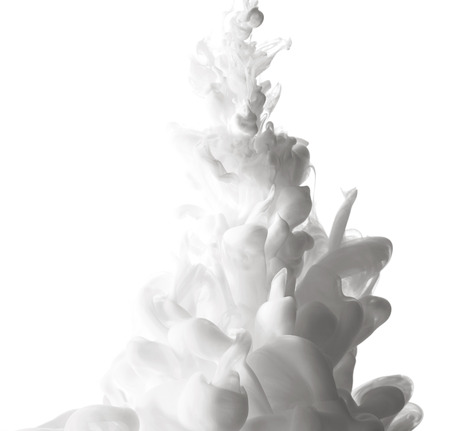 Abstract splash of white paint isolated on white background