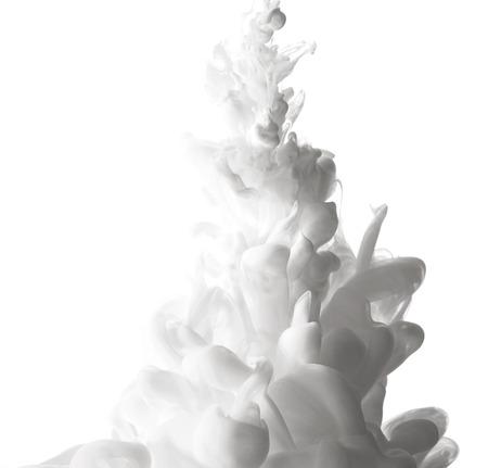 Résumé éclaboussures de peinture blanche isolé sur fond blanc Banque d'images - 42261740