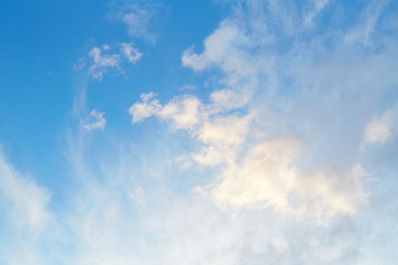 cirrus clouds: Blue sky background with cirrus clouds Stock Photo