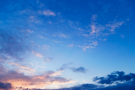 Beautiful evening sky with clouds. Sunset