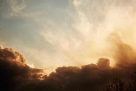 dark sky: Sky with stormy dark clouds. Nature background Stock Photo