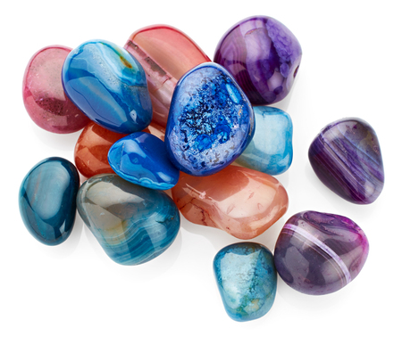 semiprecious: Semiprecious stones isolated on white background Stock Photo