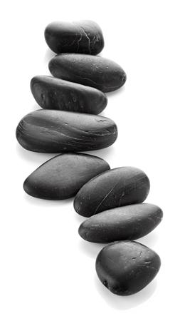 black stones: Spa stones isolated on white background