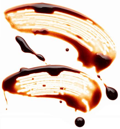 chocolate melt: Cioccolato liquido isolato su sfondo bianco Archivio Fotografico