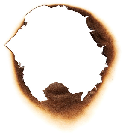 burnt: Burnt hole in white paper