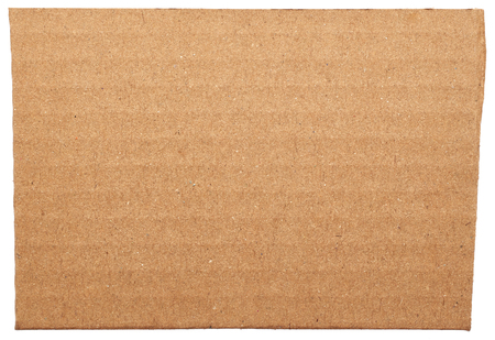 cardboard box: Cardboard close up isolated on white background