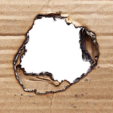 burnt: Burnt cardboard Stock Photo