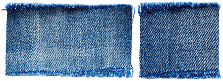 denim fabric: Set of jeans fabric isolated on white background