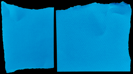 blue texture: Blue cardboards on black background