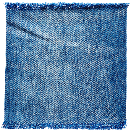 Jeans fabric isolated on white background Foto de archivo