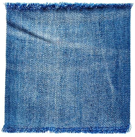 mezclilla: jeans tejido aislado en el fondo blanco