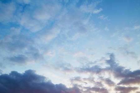 blue cloudy sky: Evening cloudy sky Stock Photo