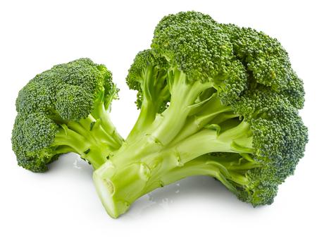 Świeże brokuły wyizolowanych na białym tle