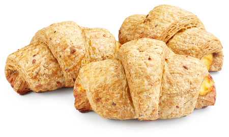buttery: Croissants isolated on white background
