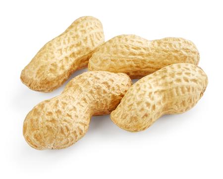 cacahuate: Cacahuetes aisladas sobre fondo blanco