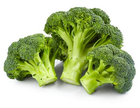 Brócoli fresco aisladas sobre fondo blanco Foto de archivo - 54357955