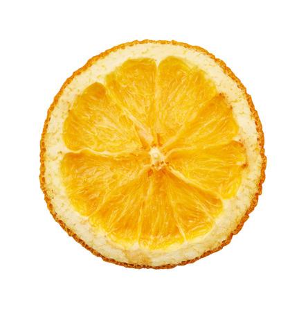dried orange: Dried orange slice isolated on white background Stock Photo