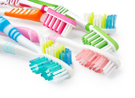 Toothbrushes isolated on white background Фото со стока