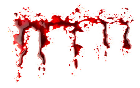 bloodstains: Bloodstains isolated on white background Stock Photo
