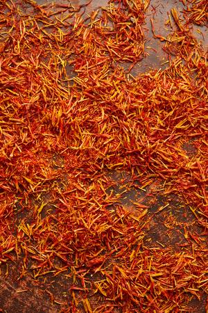 Saffron on vintage background