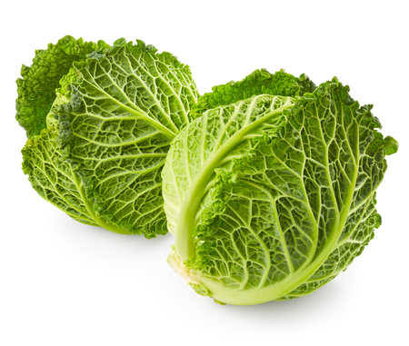 savoy cabbage: Savoy cabbage isolated on white background