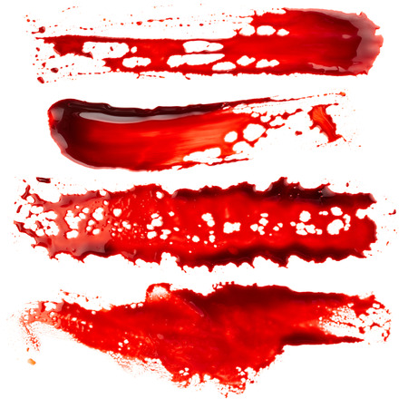 bloodstain: Set of bloodstain isolated on white background
