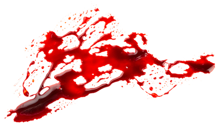 bloodstain: Bloodstain isolated on white background
