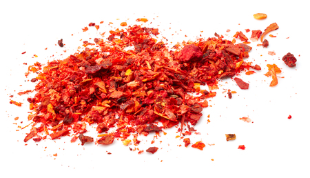 spice isolated: Red pepper spice isolated on white background Stock Photo
