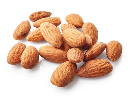 Almonds isolated on white background Stok Fotoğraf - 57960657