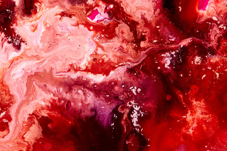 Red paint background. Abstract acrylic texture