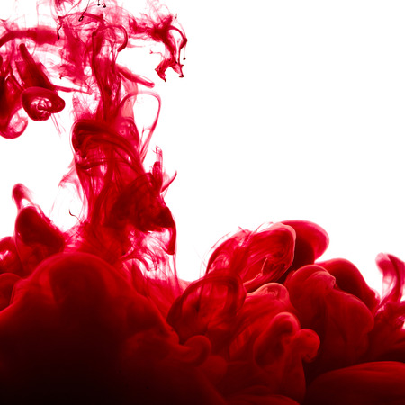 splash abstract: Splash of red paint isolated on white background