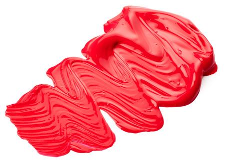 Rode verf op een witte achtergrond