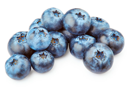 wildberry: Blueberries isolated on white background