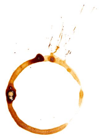 Kaffeetasse Flecken isoliert auf weißem Hintergrund