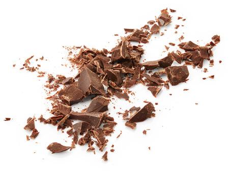 Chocolade die op witte achtergrond wordt geïsoleerd Stockfoto