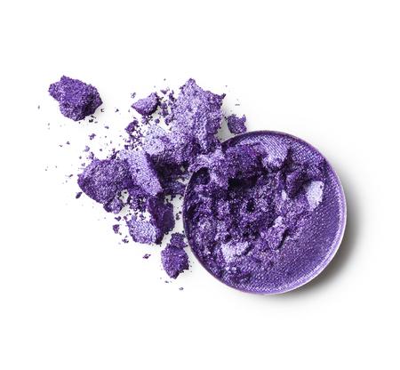 eye shadow: Purple eye shadow isolated on white background