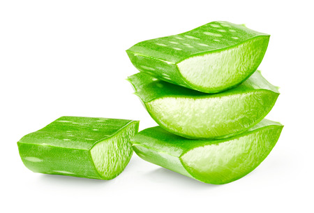 Aloe vera sliced isolated on white background