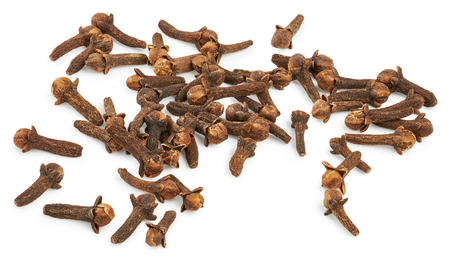 Dry cloves isolated on white background Stok Fotoğraf