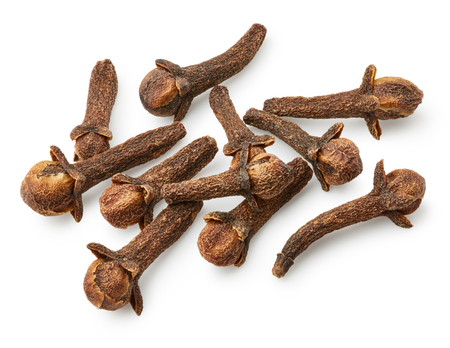 Dried cloves isolated on white background