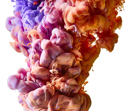 drop in: Color drop in water Stock Photo